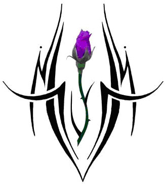 tattoo design with a flower or rose
