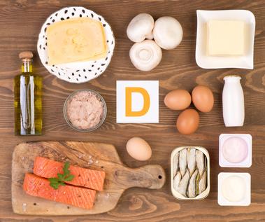 vitamin d foods such as tuna, milk, salmon, eggs, and cod liver oil