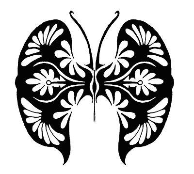 beautiful butterfly tattoo design