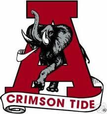 Alabama Crimson Tide with Elephant Tattoo Design
