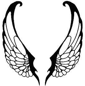 angel tattoo design of a pair of angel wings