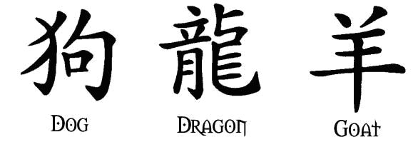 If you are looking for Chinese characters tattoos, then you can find some