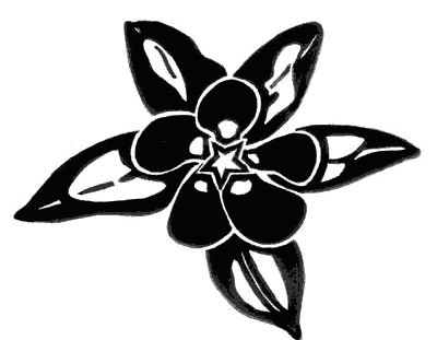 cool flower tattoo design in black and white
