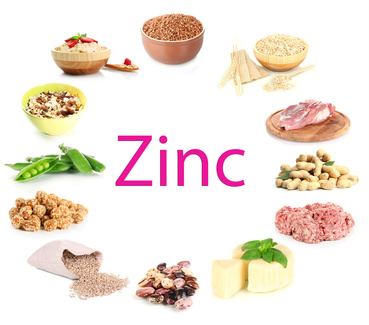 foods containing zinc such as red meat, cereals and beans will eliminate a zinc deficiency