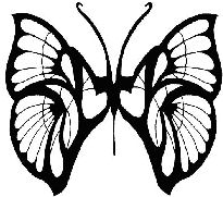 free butterfly tattoo pattern or design