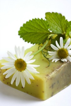 homemade herbal soap for natural healthy skin