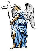 angel tattoo design with cross