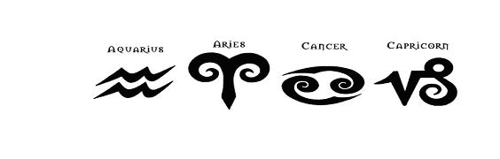 zodiac tattoos aquarius aries cancer capricorn