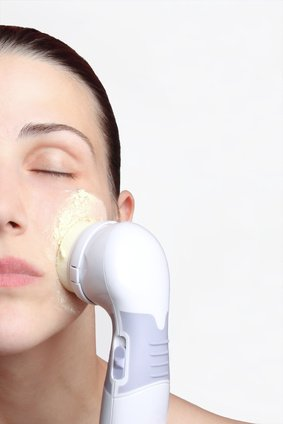 woman undergoing microdermabrasion skin treatment